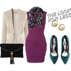 A fashion look from May 2013 featuring purple dresses, pink blazer and pointed toe flats. Browse and shop related looks. Formal Outfits, Shoe Bag, Collection, Shopping, Shoes, Dresses, Design, Women, Fashion