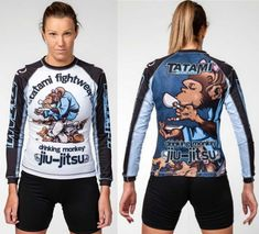 BJJ Rash Guard Drinking Monkey