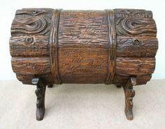 A Black Forest log box, circa 1870