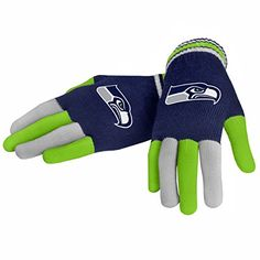 awesome NFL Football 2014 Multi Color Team Logo Knit Gloves – Pick Team (Seattle Seahawks)