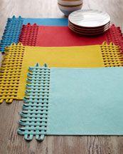 basketweave place mats