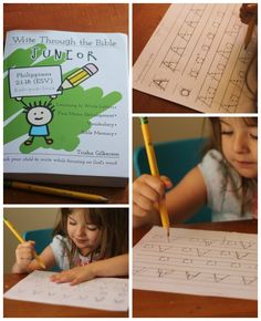 Using Write through the Bible, Jr. to teach handwriting and Bible!