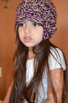 Cute crochet hat with bow