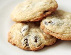 "Marzipan Chocolate Chip Cookies -- ""Imagine, for a moment, your favorite chocolate chip cookie. One that's slightly crisp on the edges, but soft and chewy on the inside, with a rich aroma of brown sugar and smooth bittersweet chocolate pockets that melt in your mouth. Got it? Now imagine that cookie laced with marzipan."""