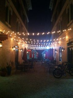 Cobblestone alley in Seacrest, FL, right outside of Ophelia Swimwear.  Love the European vibe.