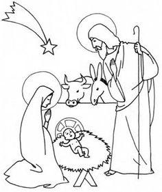Reino Encantado: Presepio de Natal com molde