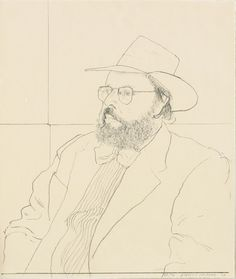 henry geldzahler with hat, david hockney [1976].