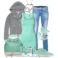 """teal casual"" by jennifer-rosencrans-hovda on Polyvore"