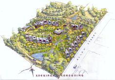 Kooringa Co-Housing Permaculture Village, SA, Australia - Modern Co Housing Community, Tiny House Community, Green Building, Building A House, Tiny House Village, Tiny Houses, Pocket Neighborhood, Cluster House, Recycled House