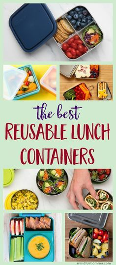 Reusable lunch containers made of non-toxic materials like stainless, glass and safe plastic, that will meet the needs of everyone in the family. | zero waste | waste free | back to school | kids lunch | eco friendly | healthy lifestyle via @mindfulmomma