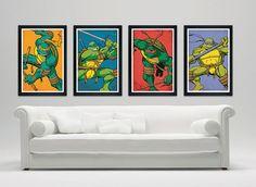 teenage mutant ninja turtles poster set TMNT by PrintMadness