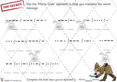 Teacher's Pet - Morse Code Solving - Premium Printable Classroom Activities and Games - EYFS, KS1, KS2, problem, solving, victorian, sound, ...