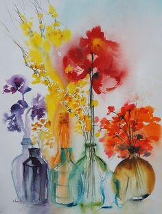 Mélange des senteurs,   Olivia QUINTIN, Watercolour