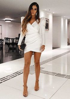 Spiffy Fashion Outstanding Party Looks With Short Dress - Elegant Wears Elegant Outfit, Elegant Dresses, Wrap Skort, Become A Fashion Designer, Girl Fashion, Fashion Outfits, Party Looks, Boss Lady, Sexy Legs