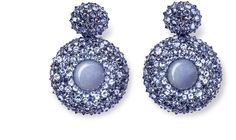 Hemmerle Jade Earrings - jade, tanzanite, gold, silver The Jewelery Icon - by Maria Kerner