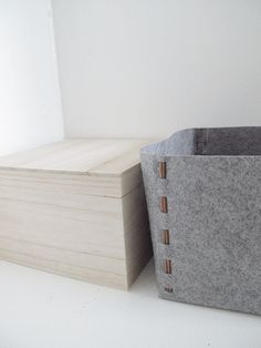 DIY felt storage box by Design & Form