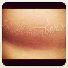 Love remembers - tattoo
