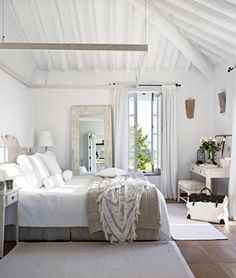 simple white and neutral bedroom