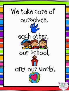 Classroom Rules and Expectations in Preschool.  Simple,easy to follow class rules for preschool students by Pocket of Preschool
