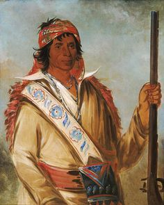 Steeh-tcha-kó-me-co, Great King (called Ben Perryman), a Chief by George Catlin kp