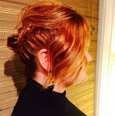 all nutrient hair color. Hair by yulee @ VLVT salon. Updo