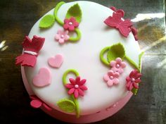 Gâteau pâte à sucre fleurs