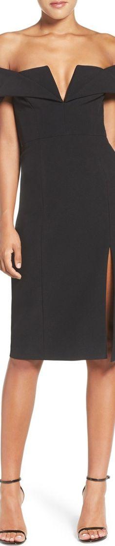 BCBGMAXAZRIA 'Marquise' Off the Shoulder Sheath Dress