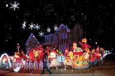 led christmas lights on houses - Google Search