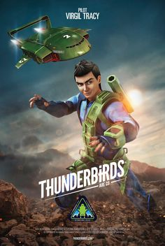 Official Thunderbirds Are Go - Virgil Tracy, pilot of the mighty Thunderbird 2....