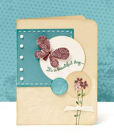 """""""It's a beautiful day..."""" card idea from #CTMH."""
