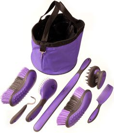 Saddles Tack Horse Supplies - ChickSaddlery.com Tough-1 Great Grips 8-Piece Grooming Kit #winyourwishlist