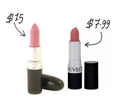 Light Pink  Can't find a good nude lippie? Try going for a light pink instead. It can come across as slightly Mod or as an alternative to a nude, which is what Snob usually comes across as. It won't wash you out! MAC Lipstick in Snob, $15 Revlon Matte Lipstick in Pink Pout, $7.99