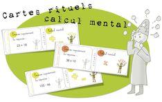 Cartes rituels-Calcul mental : addition, multiplication , soustraction - Bout de gomme