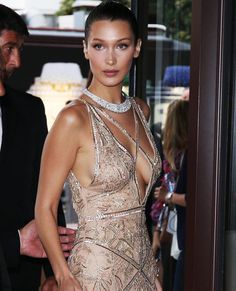 In the Name of Beauty - Another breathtaking shot of Bella Hadid in #CavalliCouture by #PeterDundas at the 69th Cannes Film Festival.