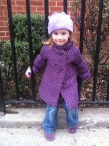 Toddler puff-sleeved coat free pattern
