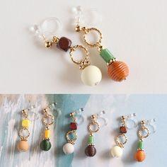 アクセサリーやファッション、雑貨など可愛い商品を取り扱う宮崎のセレクトショップ「アジサイアパートメント」のオンラインストア Diy Earrings, Earrings Handmade, Beaded Jewelry, Beaded Bracelets, Jewelry Crafts, Jewelry Ideas, Homemade Jewelry, Diy Accessories, How To Make Beads