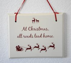 #Holiday #sign Decorative Hanging Sign READY TO SHIP   by Frameyourstory
