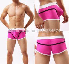 Cool Bikini Mesh 7 Color Pouch Mens underwear boxers for men boxer shorts underpants boxer Men's cuecas boxers shorts underwear Free Shipping