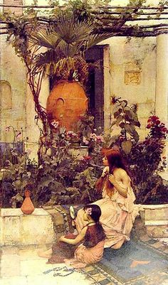 John William Waterhouse - At Capri