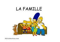 Vocabulaire et activité  la famille les simpsons - Fiches FLE