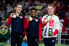 2016 Olympic Games: Floor Exercise Medalists • Simone Biles (USA) • Aly Raisman (USA) • Amy Tinkler (Great Britain)