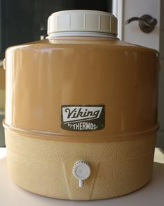 Vintage Viking Thermos Picnic Jug In Yellow