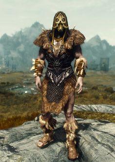 """Primal Warrior"" by Ocean Splitter Savior's Hide Forsworn Boots and Bracers… Skyrim Armor Sets, Tes Skyrim, Skyrim Builds, Skyrim Concept Art, Skyrim Cosplay, Elder Scrolls Skyrim, Gamers, Renaissance, Fantasy Warrior"