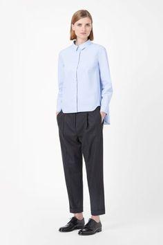 Pale Blue Oversized Shirts