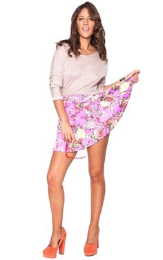 Flower Child skirt in purple