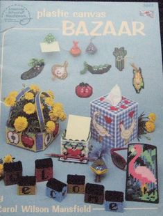 Plastic Canvas Bazaar Pattern Book by TheHowlingHag on Etsy Plastic Canvas Books, Plastic Canvas Crafts, Plastic Canvas Patterns, I Am Happy, Are You Happy, Glass Holders, Book Quilt, Canvas Board, Applique Quilts
