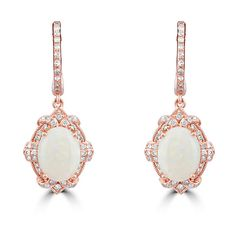Effy Jewelry Effy Aurora 14K Rose Gold Opal and Diamond Earrings, 2.26... ($1,747) ❤ liked on Polyvore featuring jewelry, earrings, opal earrings, diamond jewelry, pink gold earrings, 14 karat gold diamond earrings and 14k rose gold jewelry