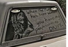 when the car has been washed, you have my permission to drive- Bane
