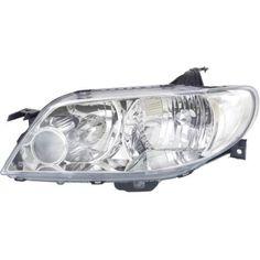 2002-2003 Mazda Protege5 Head Light LH, Lens And Housing, Aluminum Bezel