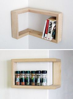 Corner Shelves. I must have these